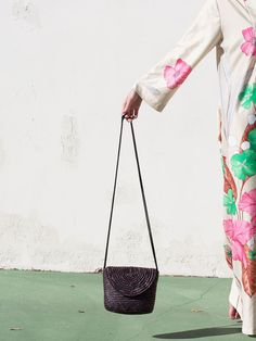 A012 Vintage Woven Cross-Body Bag