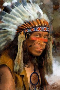 Nativeamericanwarriors red road warrior detail painting by chief dan george fandeluxe Gallery