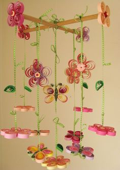 Baby Mobile - Butterfly Mobile - Girl Mobile - Quilled Lovely Spring Mobile - Unique Mobile - Quilling Handmade Best Mobil 4. $173.00, via Etsy.