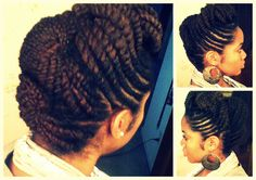FLAT TWIST UPDO (VACATION HAIR) - like the style but not so sure about how much time it would take to have this done!