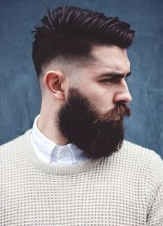 Fade haircut with beard, beard haircut, full beard, mens hairstyles Chris Millington, Barba Grande, Drop Fade Haircut, Chris John, Beard Haircut, Great Beards, Beard Lover, Man Beard, Sexy Beard