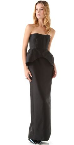 Amazing! Perfect for a black tie christmas party... or just for around the house! $1125 Ellery peplum gown