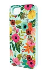 Rifle Paper Co iphone 5 + inlay phone case mint floral