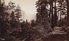 GEORGE FISKE  1835 - 1918 Glimpse of Yosemite Valley from Inspiration Point. ca. 1880s