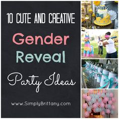 "reveal themes ""gender reveal ideas"" [Fun Ideas for Baby Showers and Gender Reveal Parties] Baby Gender Reveal Party, Gender Party, Shower Party, Baby Shower Parties, Baby Showers, Bridal Shower, Baby On The Way, Second Baby, Baby Time"