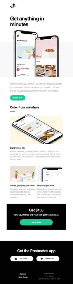 Subject Line: Welcome to Postmates Email Marketing, Digital Marketing, Welcome Emails, Email Templates, Email Design, Edm, Delivery, Inspiration, Biblical Inspiration