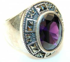 Gorgeous Alexandrite Quartz Sterling Silver ring s. 7 - 17.20g | $63.93 best price at Silver Rush Style!