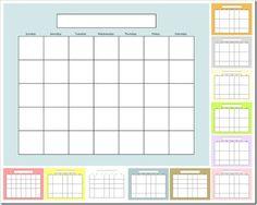 Diy Calendar Template | 25 Best Diy Fridge Calendar Images On Pinterest Homes Home Ideas