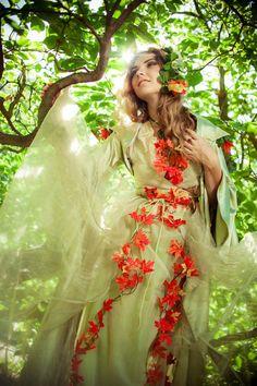 Green fairy dress adult light green fairy costume by LuckyLotDress
