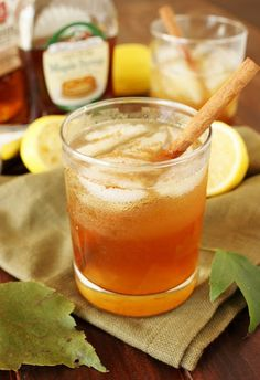 Bourbon and pure maple syrup pair up beautifully in this tasty Bourbon Maple Leaf Cocktail. With just a hint of cinnamon, it's perfect for Fall sipping!
