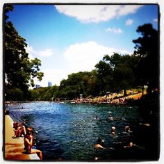 Barton Springs in Austin, TX.
