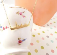 New York city skyline bar necklace, Horizontal bar necklace/anniversary gift/Manhattan skyline necklace/Gift idea/back to school necklace by DearMia on Etsy https://www.etsy.com/listing/248891633/new-york-city-skyline-bar-necklace