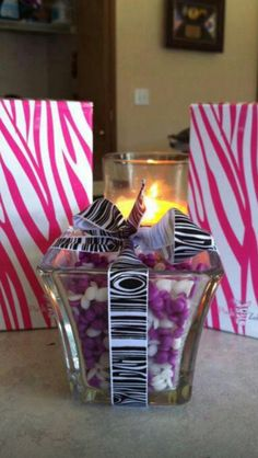 Beautiful easy to make gifts, prizes, or center pieces! Pink Zebra candles and Sprinkles! Click on shop, sprinkles, and glimmer candles. www.pinkzebrahome.com/sprinklechef