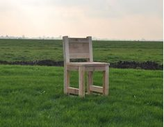 Gartenstuhl Rustik - Gartenmöbel aus Bauholz