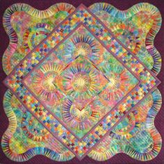 """Joy"" quilt by Jacqueline de Jonge of The Netherlands: http://www.becolourful.nl/quilts/36/quiltstart.htm"