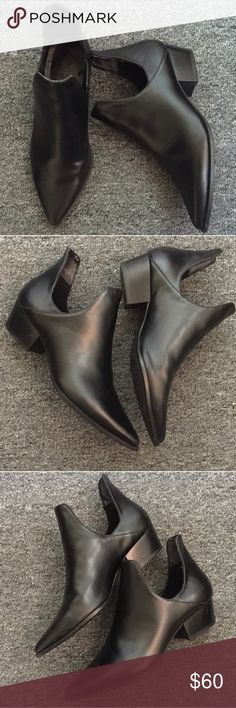 Zara black ankle booties Worn a very few times. In good condition Zara Shoes Ankle Boots & Booties
