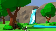 Please give me your thoughts about this project :)  a quick low-poly scene created when i was bored