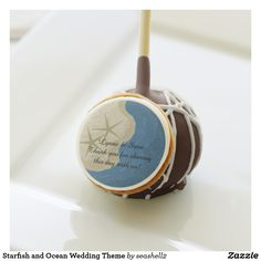 Starfish and Ocean Wedding Theme Cake Pops