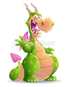 Illustration of a laughing dotted green dragon with horns and pink. Dinosaur Images, Animal Illustration Art, Illustration, Stock Illustration, Art, Happy Paintings, Cartoon Art, Cartoon Dragon, Dragon Drawing