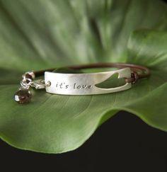 Open Heart It's Love Bracelet Custom Words by SoulPeaces on Etsy