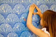 Sarah Jane Tree Lights Wallpaper. Childrens room wallpaper
