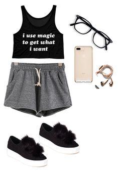 """""""Outfit"""" by mbelma ❤ liked on Polyvore featuring Steve Madden and Happy Plugs"""