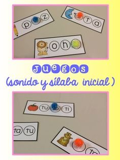 Los sónidos mágicos {Centers for beginning sounds and syllables in Spanish}