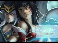 Timelapse video of my wife creating digital Ahri & Ashe fanart (finished art in comments) https://www.youtube.com/watch?v=vZ7PvHgdBoU