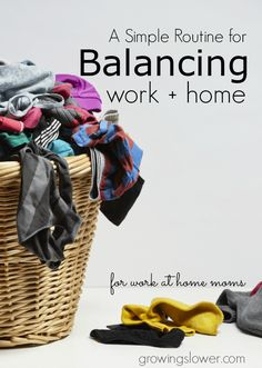 This simple routine for work at home moms will completely transform your days and help you find that elusive work/home balance at last!