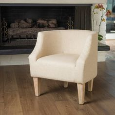 Isabel Beige Fabric Accent Chair