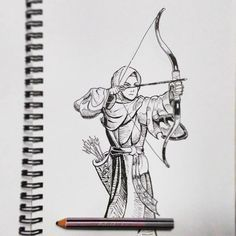 "Muslimah Archer"" #sketch #art #drawing #manga... - K A R y a W O R K S"