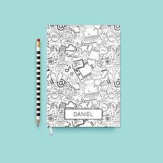 Personalized Emoji Coloring Journal at Shop Kelly Renay : Coolest Personalized Gifts | Cool Mom Picks Holiday Gift Guide