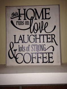 Love, coffee sign