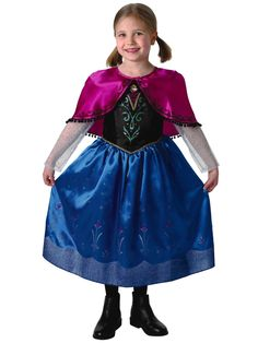 Disney Frozen Girls Deluxe Anna (Travelling outfit) - Child Costume | woolworths.co.uk
