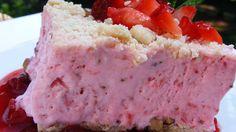 ... between a walnut crumb crust for a refreshing warm-weather dessert