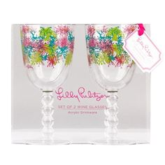 Dirty Shirley Acrylic Wine Glasses