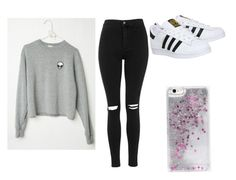 """Untitled #4"" by riapatelx ❤ liked on Polyvore featuring adidas, Topshop and Skinnydip"