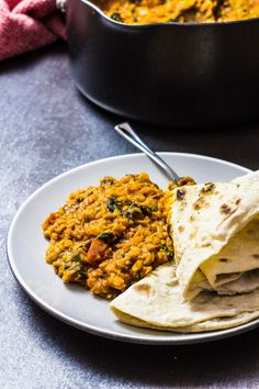 Spicy Lentil Curry with Spinach Recipe | The Bellephant