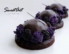 DIY Pastry Art Workshop Recipes ~ Recipes adapted for your kitchen Elegant Desserts, Fancy Desserts, Fancy Cakes, Mini Cakes, Delicious Desserts, Decoration Patisserie, Dessert Decoration, Cake Decorating Techniques, Decorating Cakes