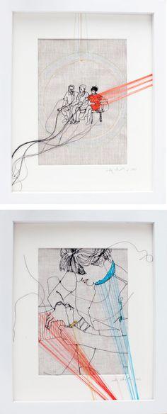 Embroidered Art :: Nike Schroeder ( http://www.nikeschroeder.com/WORK/WORK.html )