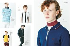 BEN REES for #FredPerryJapan SS 2015 collection #boommodels #model #malemodel #tshirt #british #Japan #mood #ginger #red #freckles #sporty #menswear #fashion #lookbook #collection