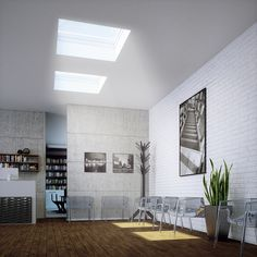 Enjoy a your day without sitting in the dark! Flat roof windows are great for light. #roofwindows #flatroofs #homedesigns #housedesigns #naturallight #rooms #inspiringhomes