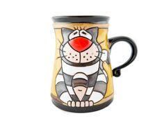 Cat Mug 11oz - Handmade Ceramics and pottery | Teapots, Coffee and Tea Mugs, Vases, Bowls, Plates, Ashtrays | Handmade stoneware - 1