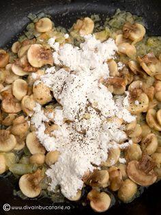SPAGHETTI CU TON SI CIUPERCI   Diva in bucatarie Veronica, Diva, Stuffed Mushrooms, Spaghetti, Vegetables, Food, Meal, Essen, Vegetable Recipes