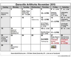Come visit Livingston County's only main street art gallery this November for workshops and gallery hours.  Gallery open: Thursdays 12 - 6 Fridays 11 - 6 Saturdays 10 - 3