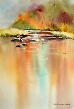 Beautiful watercolor - by Christianne Javaux