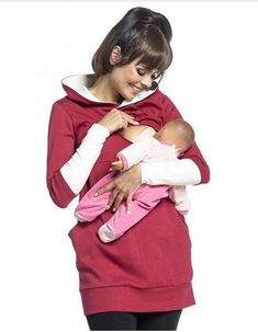 0d3c09328fa68 Warm Cotton Women s Maternity Hoodies Nursing Clothing Breastfeeding  Hoodies For Pregnant Women Outwear Clothes