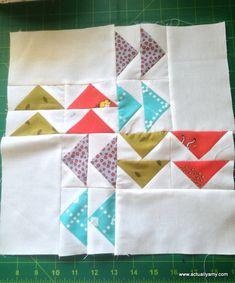Follow The Leader flying geese quilt block tutorial #modernqal