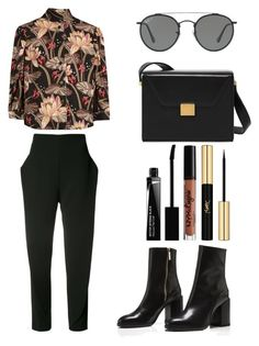 """Style #413"" by maksimchuk-vika ❤ liked on Polyvore featuring Loewe, Maticevski, Ray-Ban, NYX, Givenchy and Yves Saint Laurent"