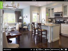 Nice light/crisp color scheme to offset darker furniture and flooring